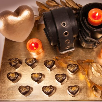 Melting Passion Fruit Chocolate Hearts
