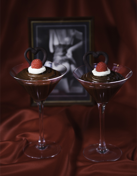 Raspberry Nipple Chocolate Mousse