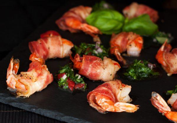 Zesty Marinated Bacon-Wrapped Shrimp