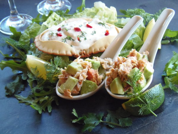 Seductive Dinner Menu, Avocado Crab